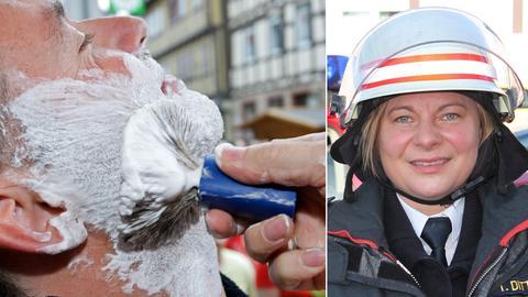 Rasur, Kreisbrandinspektorin Tanja Dittmar