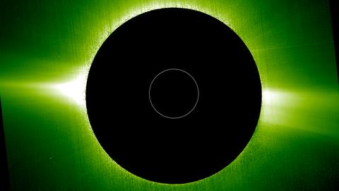 Sonnenfotos von Raumsonde