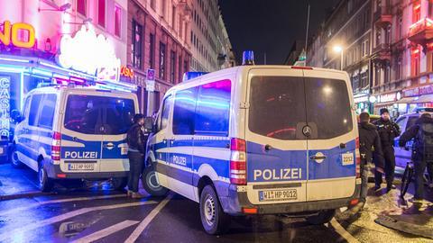 Razzia gegen Straßenkriminalität im Frankfurter Bahnhofsviertel Anfang Januar