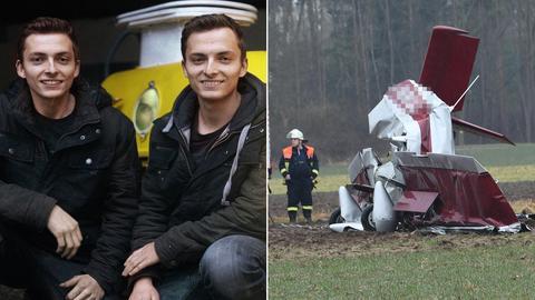 Bildkombo Real Life Guys Flugzeugabsturz
