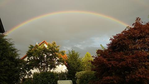 Regenbogen über Neu-Anspach.