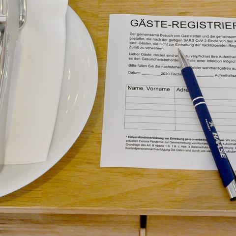 Gästeregistrierung