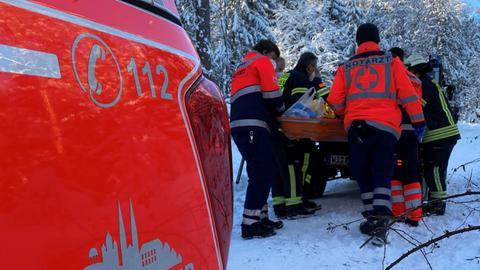 Eine gestürzte Person wurde am Sonntag gerettet.