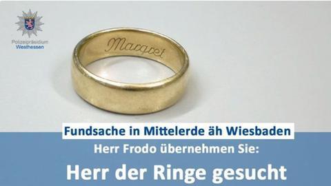 Die Polizei Westhessen suchte den Besitzer dieses Rings.