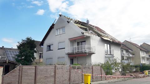 Abgedecktes Dach in Rodgau-Hainhausen