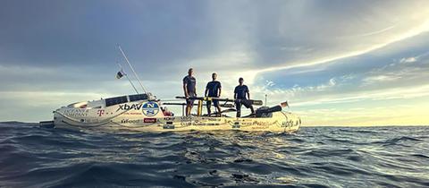 Das Team von Heroes of the Seas bei der Atlantiküberquerung