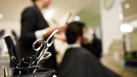 Scheren beim Friseur
