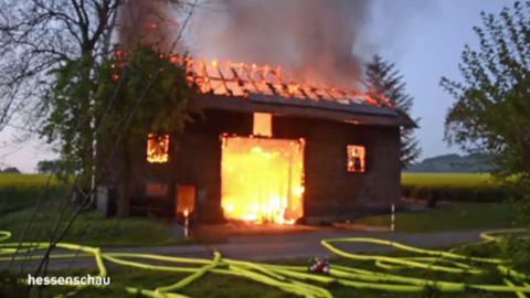 Scheunenbrand in Homberg (Efze)