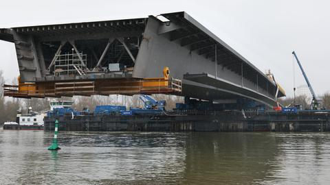 Das letzte Teilstück der Schiersteiner Brücke