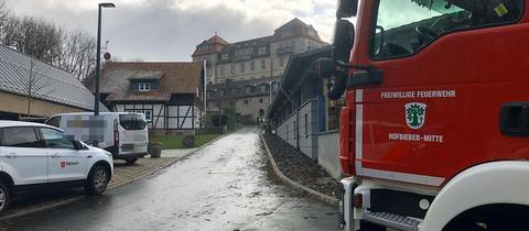 Feuerwehr vor Schloss Bieberstein