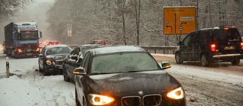 Schnee im Verkehr