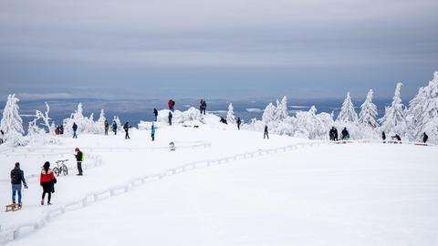 Der winterliche Feldberg im Taunus