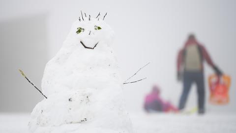 Schneemann auf dem Großen Feldberg