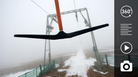Skilift am Hoherodskopf im Nebel