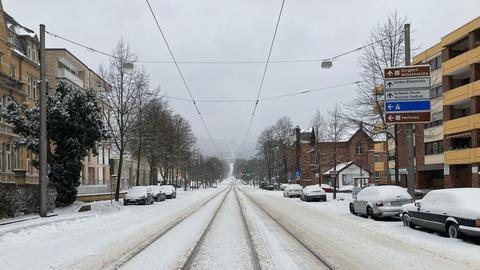 Kassel im Schnee.
