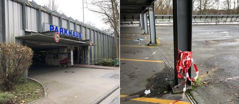 Tatort: In diesem Bad Homburger Parkhaus wurde die Frau von mehreren Schüssen getroffen.