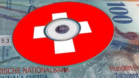 CD mit Schweizer Kreuz