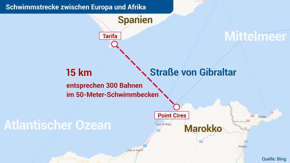 Meerenge Von Gibraltar Karte.Kaffeekl Tsch Von Europa Nach Afrika Extremschwimmerin