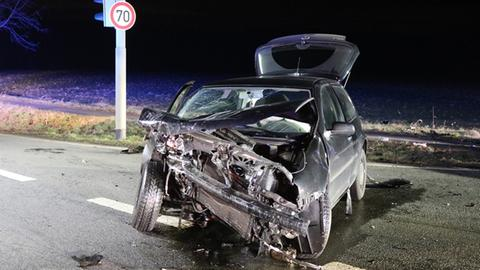 Sechs Verletzte bei Unfall auf B45
