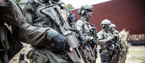 Polizeibeamte vom SEK Frankfurt