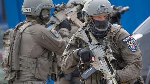 Kräfte des Spezialeinsatzkommandos (SEK) der Polizei Frankfurt am Main (Hessen)