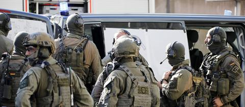 Ein Spezialeinsatzkommando der Polizei