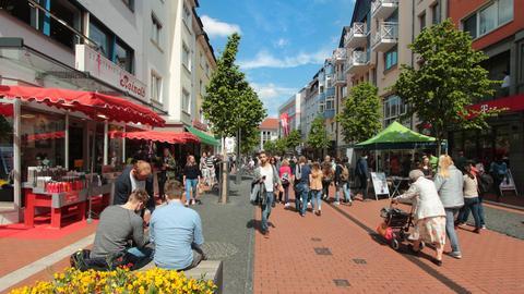 Der Seltersweg in Gießen.