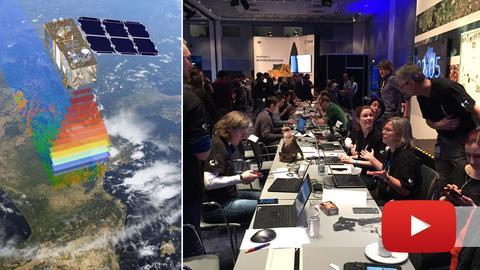Bildkombination Satellit Twitterer
