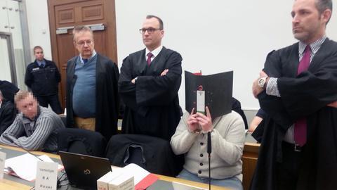 Angeklagte vor dem Gießener Landgericht