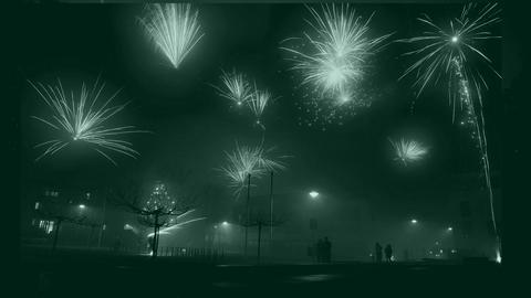 Silvesterfeuerwerk zum Jahreswechsel in Langen (Offenbach)