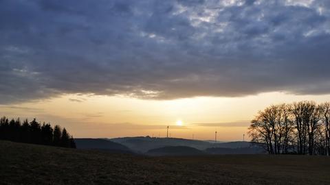 Sonnenaufgang mit Wolken