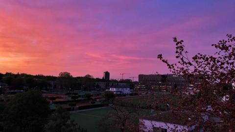 Sonnenaufgang, aufgenommen vom Funkhaus am Dornbusch