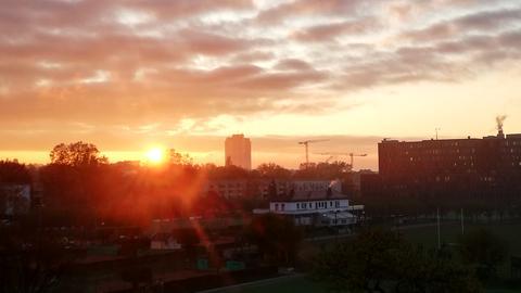 Sonnenaufgang beim hr