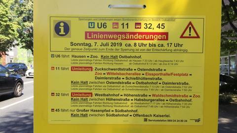 Beim öffentlichen Nahverkehr kommt es am Sonntag zu Einschränkungen.