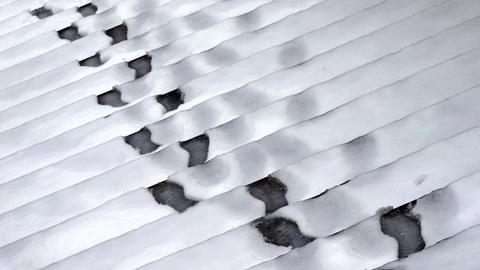 Spuren im Schnee (Archivbild)