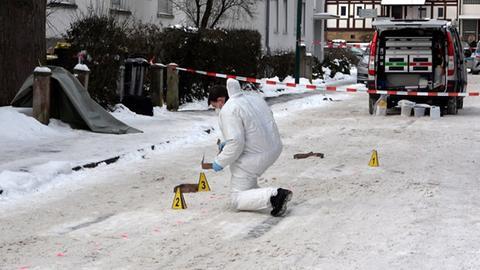 Spurensicherung im Einsatz nach Tötungsdelikt in Fulda