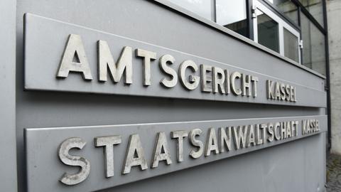 Eingangsschild am Amtsgericht Kassel