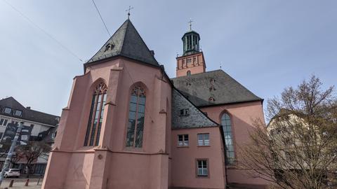 Außenansicht der Stadtkirche Darmstadt