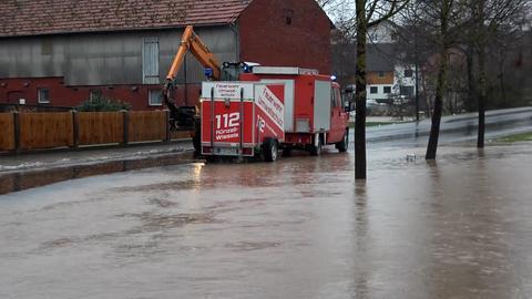 Hochwasser und Überschwemmungen in Teilen Hessen