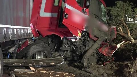 Lkw-Unfall bei Raunheim