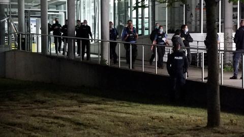 Polizeieinsatz an der TU Darmstadt.