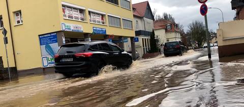 Überschwemmung in Büdinger Innenstadt