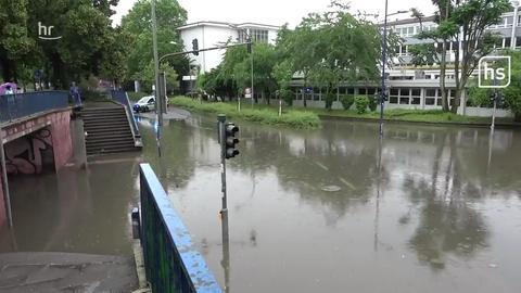 Überschwemmungen in Offenbach.