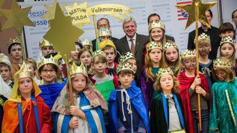 Christliche Tradition im Januar: Sternsinger zu Gast bei der Landesregierung.