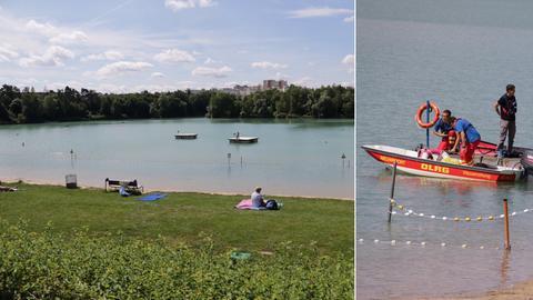 Wieder geöffnet: Das Strandbad im Rodgau - doch die Suche nach der Vermissten geht weiter