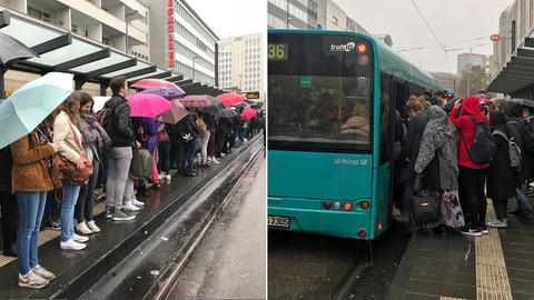 Chaos an der Konstablerwache in Frankfurt