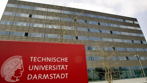 Ein Gebäude der Technischen Universität Darmstadt.