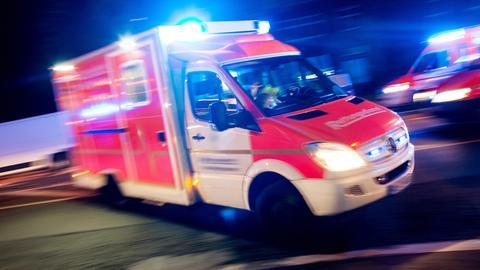 Sujet Krankenwagen Nacht Rettungswagen Rettungsdienst