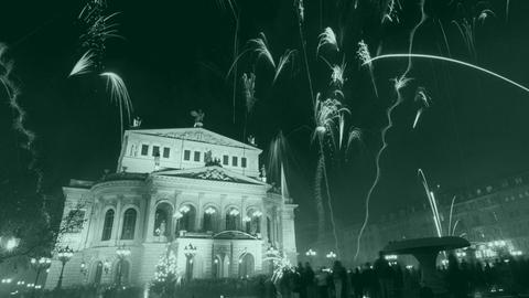 Silvesterfeuerwerk an der Alten Oper