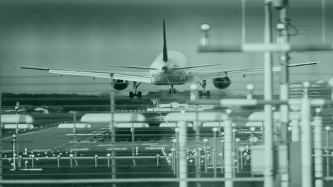 Tag in Hessen Flughafen